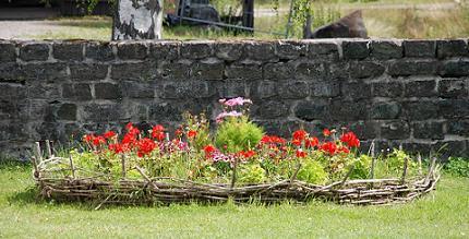 Blommor vid Gnisterhuset