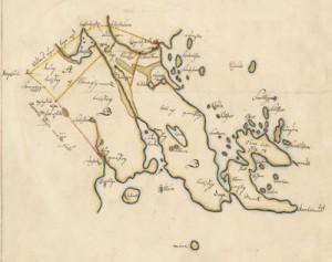 Karta från 1703 - utsnitt